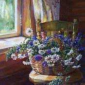 """Картины ручной работы. Ярмарка Мастеров - ручная работа картина """"Летняя корзиночка"""". Handmade."""