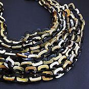 Материалы для творчества handmade. Livemaster - original item Water Buffalo Horn Chain/Zebu 50cm thick weave. Handmade.