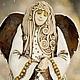 Статуэтки ручной работы. Ярмарка Мастеров - ручная работа. Купить Ангел и голубь. Handmade. Белый, глина, сувенир, голубь, крылья