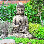 Дача и сад handmade. Livemaster - original item 42cm concrete Buddha sculpture for home and garden aged. Handmade.