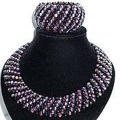 Украшения handmade. Livemaster - original item Necklace and bracelet of beads and crystal