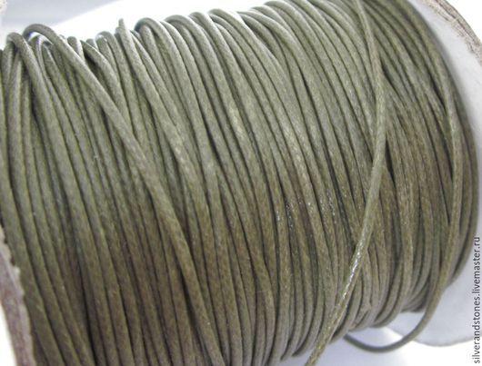 Для украшений ручной работы. Ярмарка Мастеров - ручная работа. Купить Шнур вощеный, темно-зеленый (болотный цвет). Handmade.