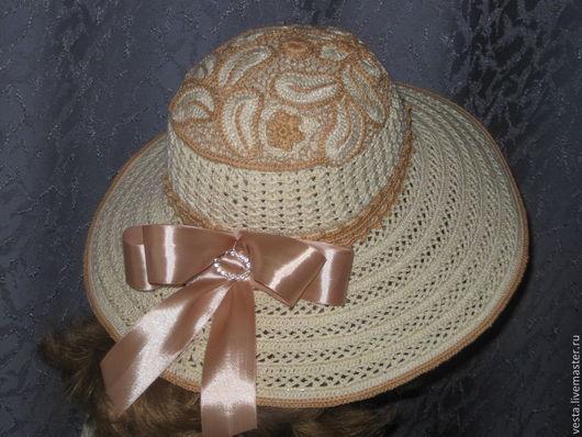"""Шляпы ручной работы. Ярмарка Мастеров - ручная работа. Купить """"Доминика"""" (летняя шляпка). Handmade. Бежевый, летняя, бохо-стиль"""