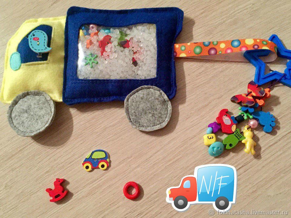 Isoloci 'Truck' out of felt for the boy, Eye Spy Toys, Krasnoyarsk,  Фото №1