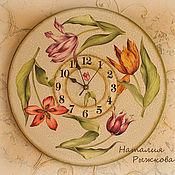 Для дома и интерьера ручной работы. Ярмарка Мастеров - ручная работа часы настенные Танец тюльпанов. Handmade.