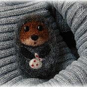handmade. Livemaster - original item hedgehog in the fog. Brooch. Handmade.