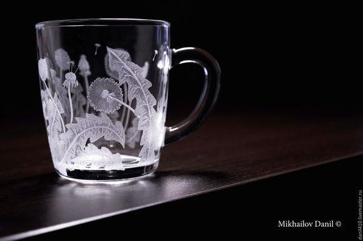 Кружки и чашки ручной работы. Ярмарка Мастеров - ручная работа. Купить подарок для подруги кружка гравировка стекла. Handmade. для кофе