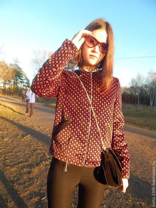 Верхняя одежда ручной работы. Ярмарка Мастеров - ручная работа. Купить Куртка. Handmade. Бордовый, осенняя мода, осень 2016