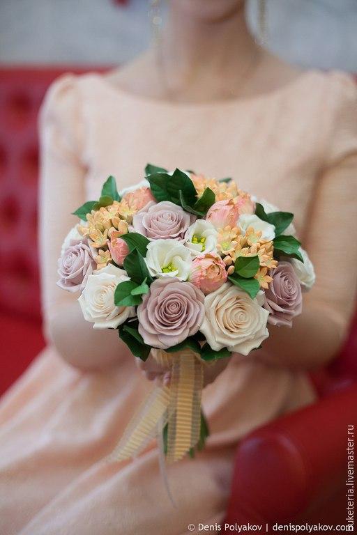 Букеты ручной работы. Ярмарка Мастеров - ручная работа. Купить Букет невесты. Handmade. Букет невесты, цветы из полимерной глины