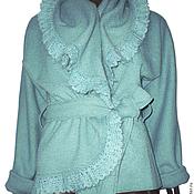 Одежда ручной работы. Ярмарка Мастеров - ручная работа Жакет с кружевом из валяной шерсти. Handmade.