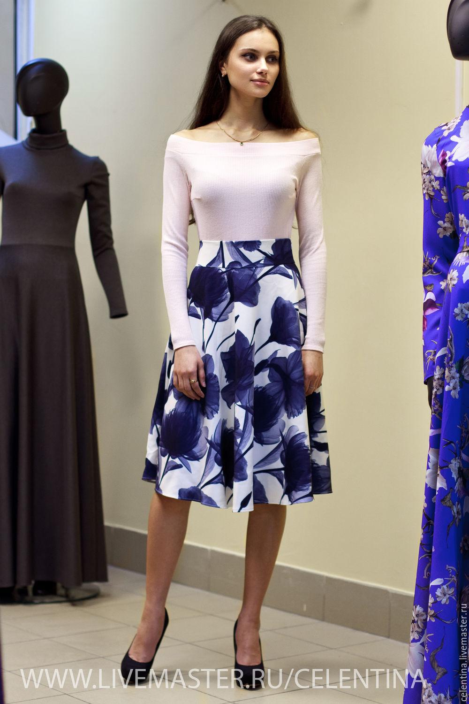 ead00163b10 Юбка длинная . Белая юбка с цветочным принтом – купить в интернет ...