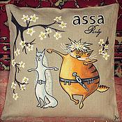 Для дома и интерьера ручной работы. Ярмарка Мастеров - ручная работа Подушки с кавказскими котами. Handmade.