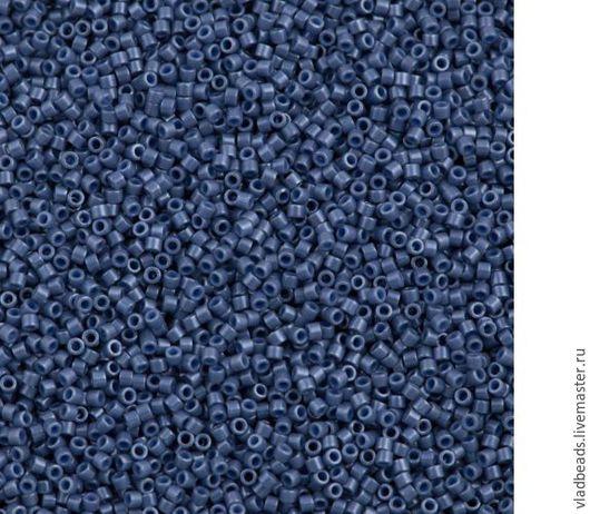 Для украшений ручной работы. Ярмарка Мастеров - ручная работа. Купить Бисер delica 267 Opaque Lister Blueberry. Handmade.