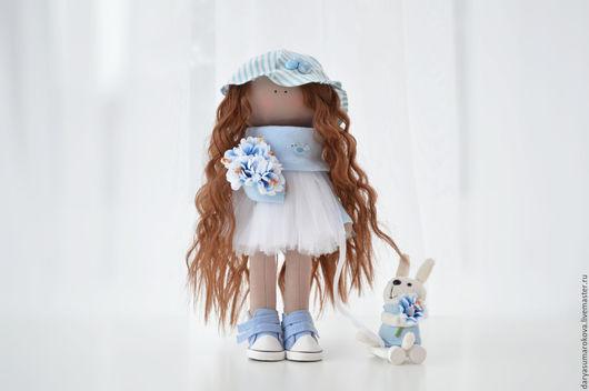 Куклы тыквоголовки ручной работы. Ярмарка Мастеров - ручная работа. Купить Интерьерная кукла. Handmade. Голубой, кукла интерьерная, интерьерная