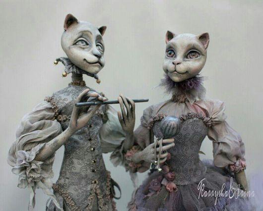 Коллекционные куклы ручной работы. Ярмарка Мастеров - ручная работа. Купить Кот и кошка Пьеро и Пьеретта. Handmade. Коты и кошки