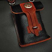 Поясная сумка ручной работы. Ярмарка Мастеров - ручная работа Поясная сумка из натуральной кожи МК1. Handmade.