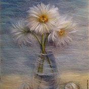 Картины и панно handmade. Livemaster - original item Picture from the wool memories of the sea. Handmade.