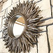 "Зеркала ручной работы. Ярмарка Мастеров - ручная работа Зеркало ""Солнце"". Handmade."