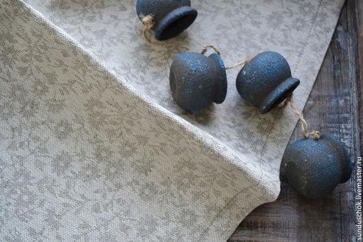"""Кухня ручной работы. Ярмарка Мастеров - ручная работа. Купить Льняная салфетка для сервировки стола """"Изящный серый"""". Handmade. Серый"""