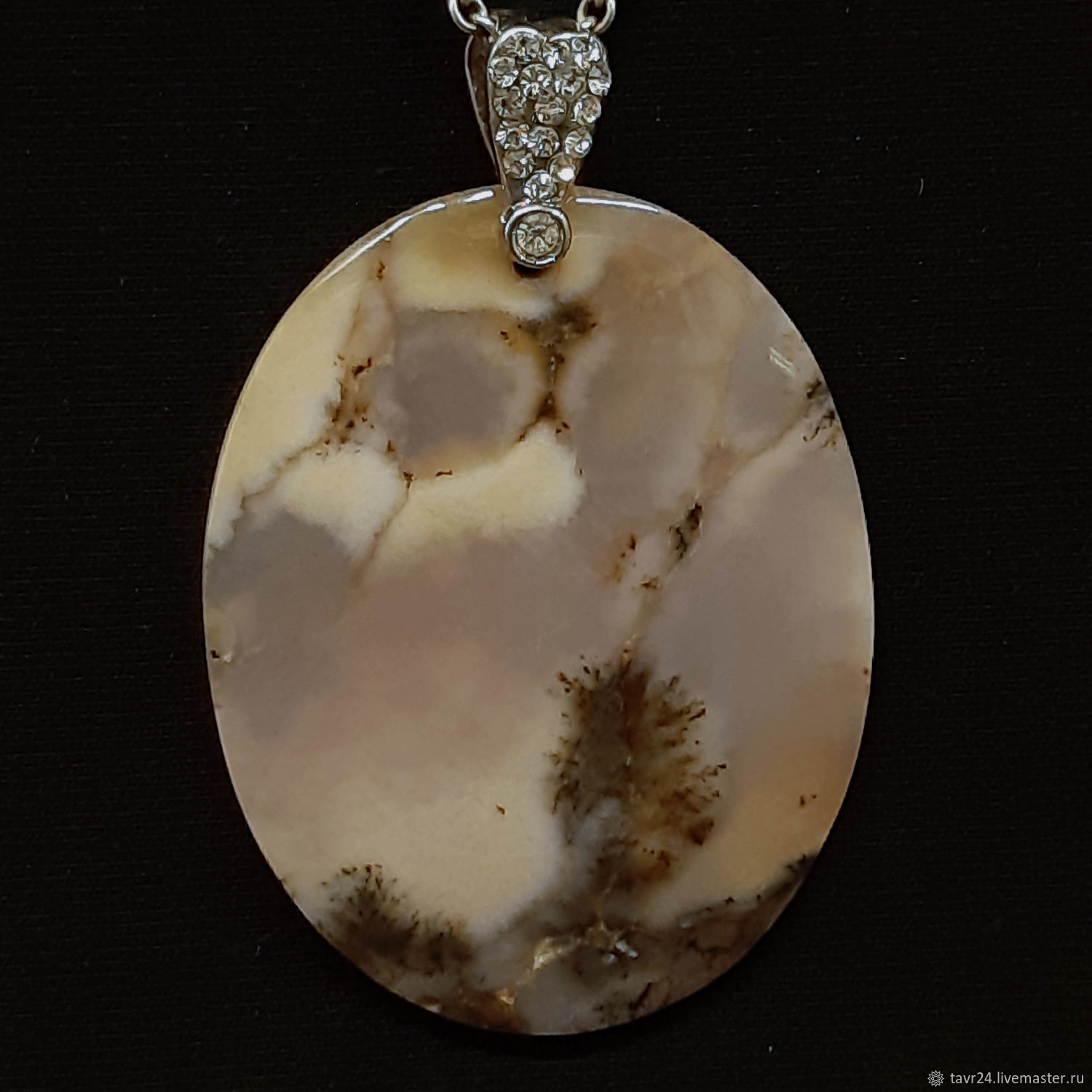 pendant №36. Chalcedony, an agate, agate Moholy, Pendant, St. Petersburg,  Фото №1