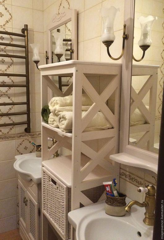 Ванная комната ручной работы. Ярмарка Мастеров - ручная работа. Купить Этажерка в ванную (место хранения). Handmade. Белый