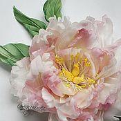 """Цветы и флористика handmade. Livemaster - original item Цветы из шелка. Брошь-цветок Пион """"Анри"""". Handmade."""