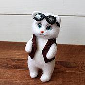 handmade. Livemaster - original item Cat pilot. Handmade.