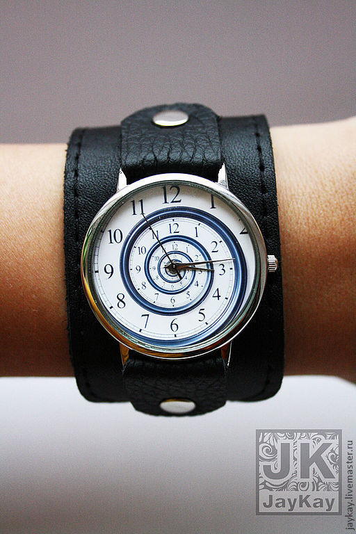 """Часы ручной работы. Ярмарка Мастеров - ручная работа. Купить Часы наручные JK """"Спираль"""" на широком ремешке. Handmade. часы"""
