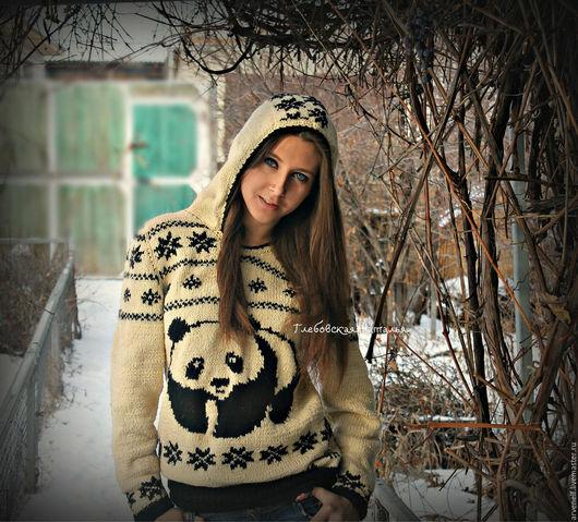 """Кофты и свитера ручной работы. Ярмарка Мастеров - ручная работа. Купить Полувер """"Большая панда"""".. Handmade. Авторская ручная работа"""