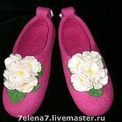 """Обувь ручной работы. Ярмарка Мастеров - ручная работа Тапочки """"Белые фиалки"""". Handmade."""