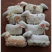 Куклы и игрушки ручной работы. Ярмарка Мастеров - ручная работа Овечки винтажные, шебби-шик, талисман 2015 года, символ года. Handmade.