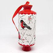 Сувениры и подарки handmade. Livemaster - original item Christmas tree decoration with hand-painted