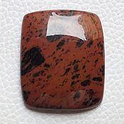 Материалы для творчества manualidades. Livemaster - hecho a mano Brown Obsidian 32x27x6 mm - 48.2 CT. Handmade.