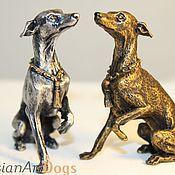 Для дома и интерьера ручной работы. Ярмарка Мастеров - ручная работа ЛЕВРЕТКА - статуэтка (оловянная миниатюрная фигурка собаки). Handmade.