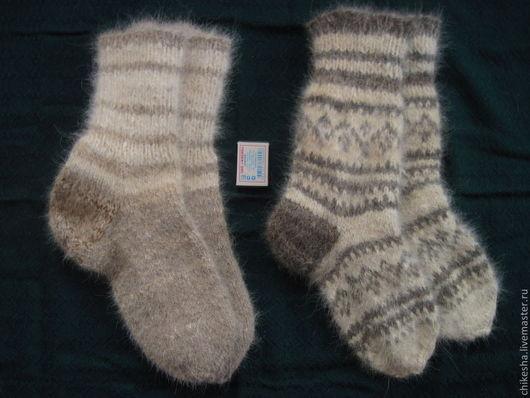 носки из собачьего пуха, носки с рисунком-двойное вязание, и цена дороже