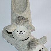 """Обувь ручной работы. Ярмарка Мастеров - ручная работа тапочки """"веселая овечка"""". Handmade."""