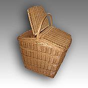 Корзины ручной работы. Ярмарка Мастеров - ручная работа Корзина для пикника плетеная из натуральной лозы. Handmade.