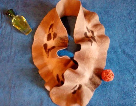 Шарфы и шарфики ручной работы. Ярмарка Мастеров - ручная работа. Купить шарф капуста валяный. Handmade. Бежевый, шарф женский