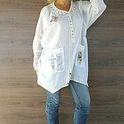 Одежда handmade. Livemaster - original item Boho tunic. White shirt.. Handmade.