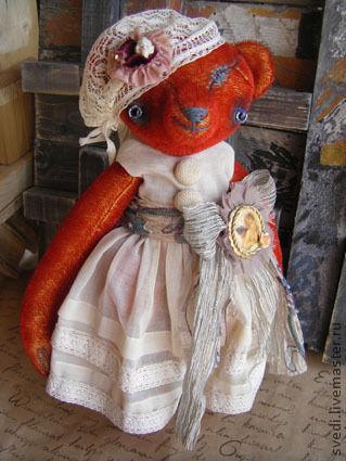 """Мишки Тедди ручной работы. Ярмарка Мастеров - ручная работа. Купить мишка"""" Леди Ред"""". Handmade. Ярко-красный, тедди"""