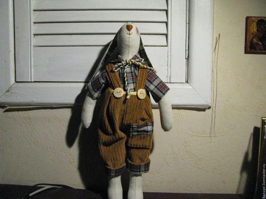 Куклы Тильды ручной работы. Ярмарка Мастеров - ручная работа. Купить Заяц Тильда. Handmade. Комбинированный, интерьерная игрушка, подарок