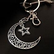 Аксессуары handmade. Livemaster - original item Key chain Crescent moon key chain for bag. Handmade.