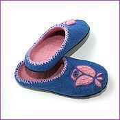 """Обувь ручной работы. Ярмарка Мастеров - ручная работа Тапочки """"Розовые бутоны"""". Handmade."""