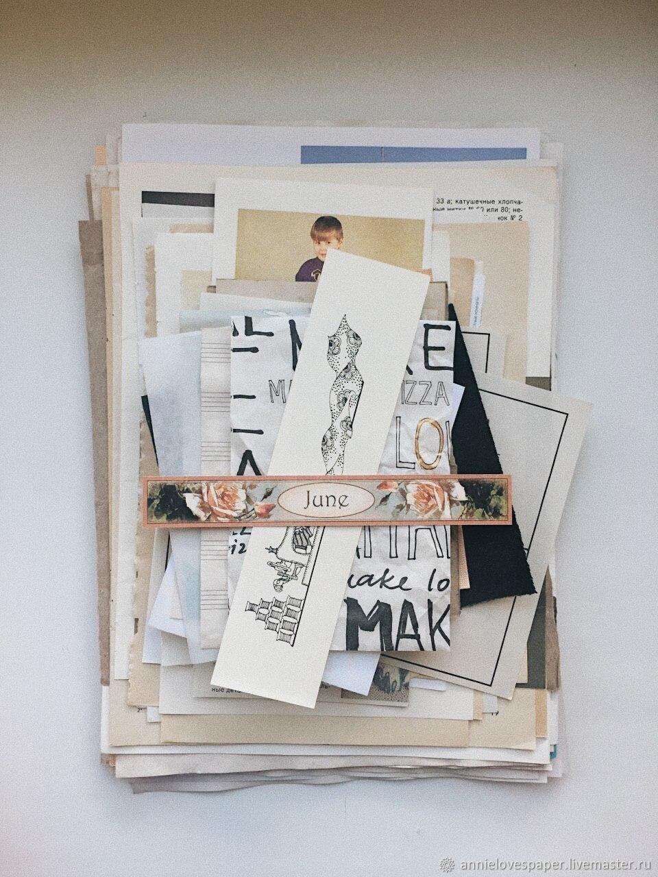 Набор бумаги для джанкбукинга, скрапбукинга, журналинга, Бумага, Томск,  Фото №1