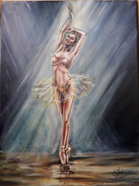 Успех!Балерина в золотом.Авторская работа Elena Zhadan, Картины, Артем,  Фото №1