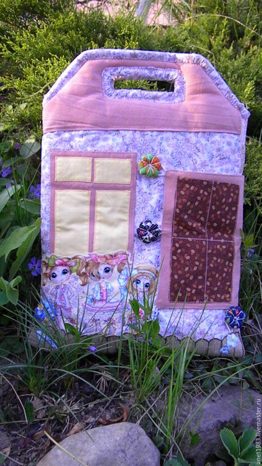 Кукольный дом ручной работы. Ярмарка Мастеров - ручная работа. Купить Сумка-домик. Handmade. Комбинированный, игрушка ручной работы