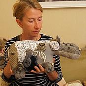 Куклы и игрушки ручной работы. Ярмарка Мастеров - ручная работа Бегемотиха ГРЭЙС. Handmade.