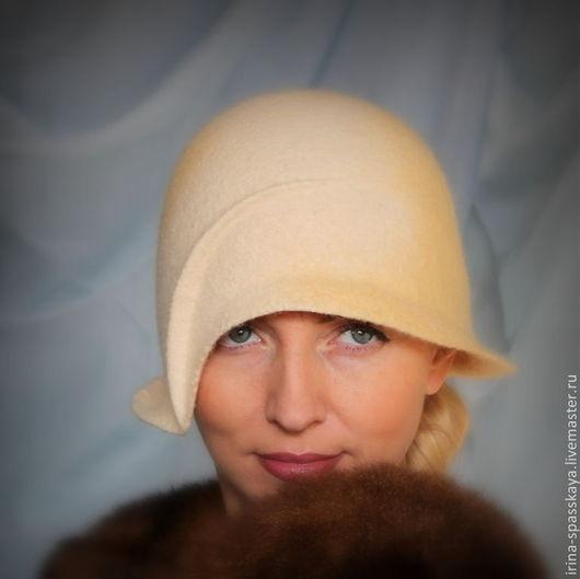 """Шляпы ручной работы. Ярмарка Мастеров - ручная работа. Купить Клош """"Лунный свет"""". Handmade. Лимонный, стиль винтаж"""