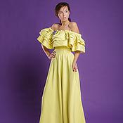 Одежда ручной работы. Ярмарка Мастеров - ручная работа Длинное платье с воланами. Handmade.