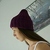 Аксессуары handmade. Livemaster - original item Knitted hat made of Italian Merino. Handmade.